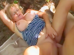 Gilf Stally Gives Head And Gets Pounded In Woods