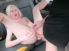 Hot Blonde Anal Banged By Nasty Driver To Off Her Fare