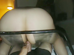 Sex chair squirt fucking her Reverse cowgirl on my thick Latina milf slut