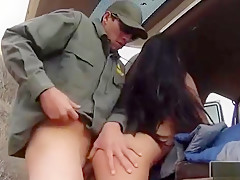 Busty Latin Floozie Gets Railed By Bp Agent At The Border