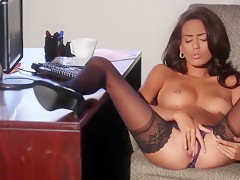 Sultry Secretary Fantasy With Janice Griffith