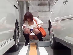 Kinky Teens Pee In Street