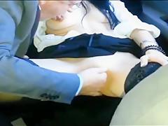 Real amateur wife handjob-blowjob stranger old man public
