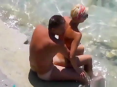 Nudist Horny Wife Masturbating On Public Beach