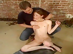 Ambrosial thin young tart Cassandra Nix is blowing a cock