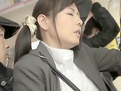 Hottest Japanese whore in Best Public, HD JAV movie
