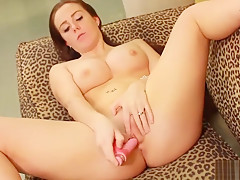 Solo Masturbation By A Horny Brunette