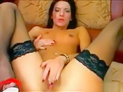 Russian Slut In Stockings And High Heels