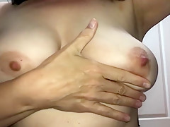 Bouncing big breasts, MILF