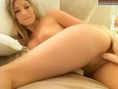 Hot Babe Pumping Her Dildo In Her Pussy!