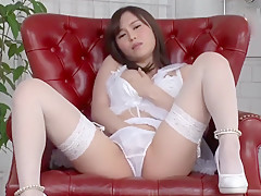 Japanese Panty Fetish - Masturbation In Whitle Lingerie