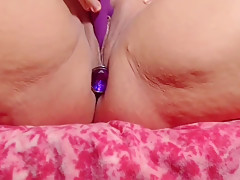 Fucking my pussy while I have a large butt plug in my ass