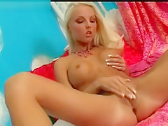 Hot Blonde Veronica Masturbating