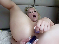 Hot Blonde Public Nudity and DP Anal Masturbation in the Back of my Truck - SpringbreakLife