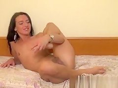 Dirty Brunette Slut Having Her Crotch Eaten Bare