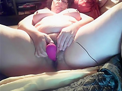 Wife Kristine shows off her pussy and cums.