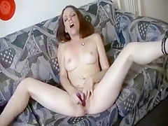 Teen Has Orgasm On The Sofa