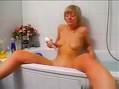 Blonde Masturbating In The Bathroom