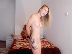 cute blonde with hands tied lovense orgasm