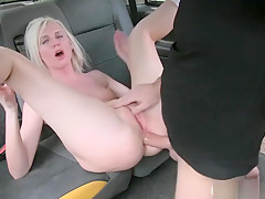 Hot Blonde Anal Slammed By Nasty Driver To Off Her Fare