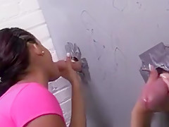 Aria Salazar Sucks White Strangers - Gloryhole