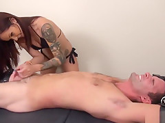 Cameron Kincade tickled by Marley
