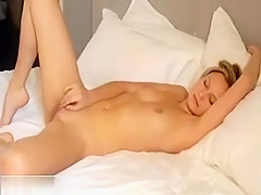 Amazing Blonde Teen Masturbate