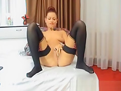Cute Babe Fingering Her Tight Cunt