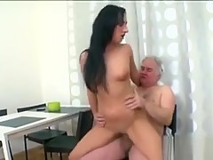 Lusty Young Girl Experiences The Ever Fuck By Old Rod