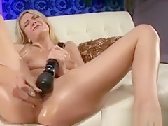 Blonde Bombshell Used As Sucking Sex Pet