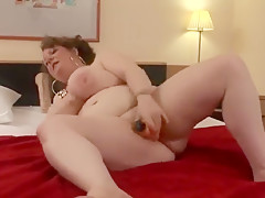 Bbw mature toys her fat wet pussy