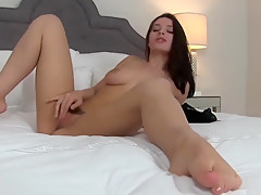 Lana is a sexy brunette who likes to masturbate