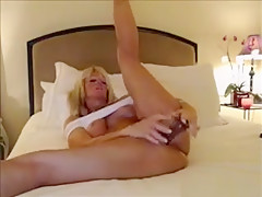 Horny Blonde Milf Masturbate Sextoy In Webcam Sex