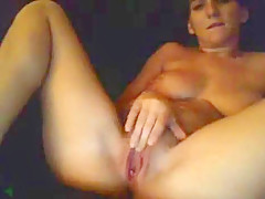 Busty Brunette Teen Toys Her Pussy With A Dildo