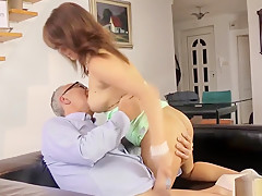 Redhead Russian Teen Fucked By British Oldman
