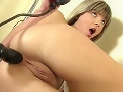 Moist Puffy Pussy Babe Using Sexy Toy In Pussy And Ass
