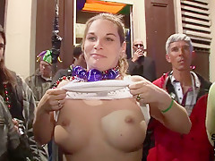 Mardi Gras Party Girls Flashing in Public - SpringbreakLife