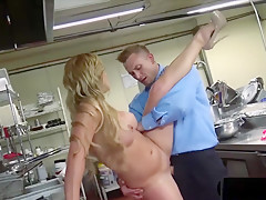 Blonde Milf Got A Special Fuck Order From The Chef