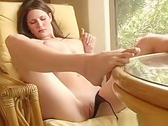 Awesome Chick Masturbates Nicely