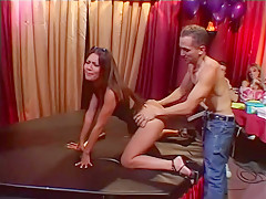 Catalina Takes Anal On Stage