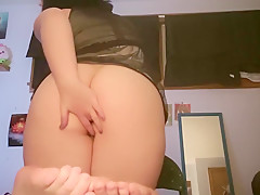 Young sexy girl teases and masturbates