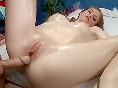 Magic Mouth And Wet Slit Of Girlie Are Gangbanged Very Hard