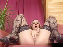 Petra Fucks Herself With A Gigantic Red Dildo