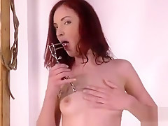 Breathtaking Girl Is Peeing And Fingering Bald Twat