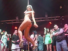 Stripper Pole Contest in Ybor City Night Club - SpringbreakLife