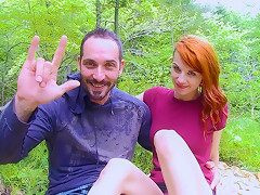 Lydya Moser & Rick Duke in Redhead in the Forest - AcesOfPorn