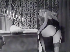 Erotic Sensual Striptease in Black and White