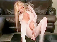 Hot Blonde Milf With Huge Tits Gets