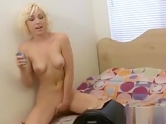 Sexy Teen Blonde Tries A New Toy