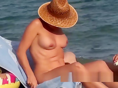 Hairy trimmed pussy amateur nudist females voyeur beach spy